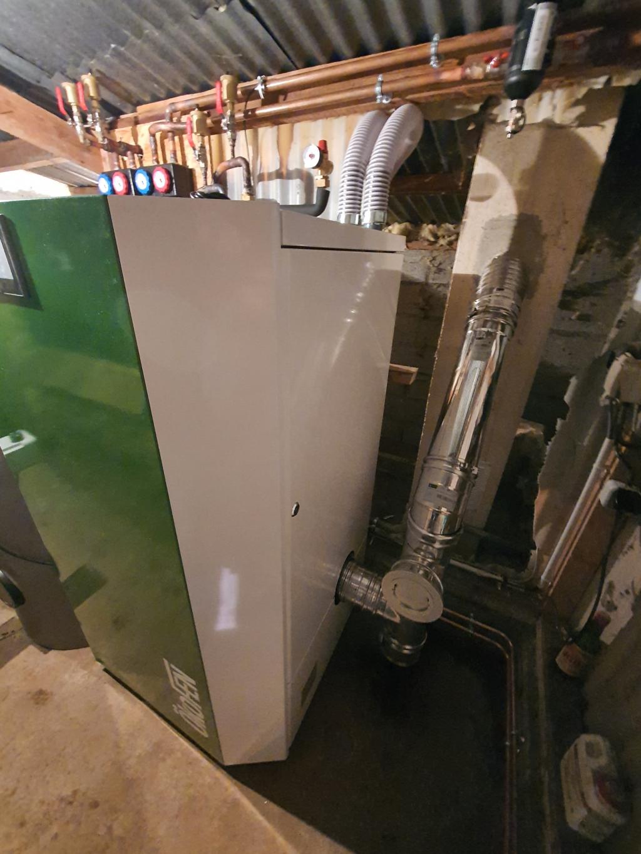 ENTREPRISE RGE - QUALIBOIS - Installation d'une chaudière okofen à granules en remplacement d'une chaudière fuel - entreprise RGE- Qualibois